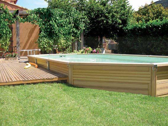 construction piscine hors sol besan on 25 castor bleu. Black Bedroom Furniture Sets. Home Design Ideas
