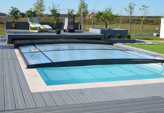 Les abris outdoor extra plat for Abris piscine plat